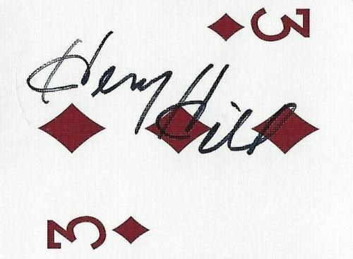 Henry Hill Signed Goodfellas Playing Card 3 Three of Diamonds PSA/DNA Gangster