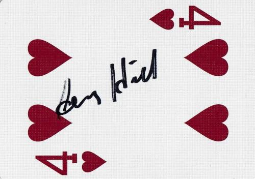 Henry Hill Signed Goodfellas Playing Card 4 Four of Hearts PSA/DNA COA Gangster