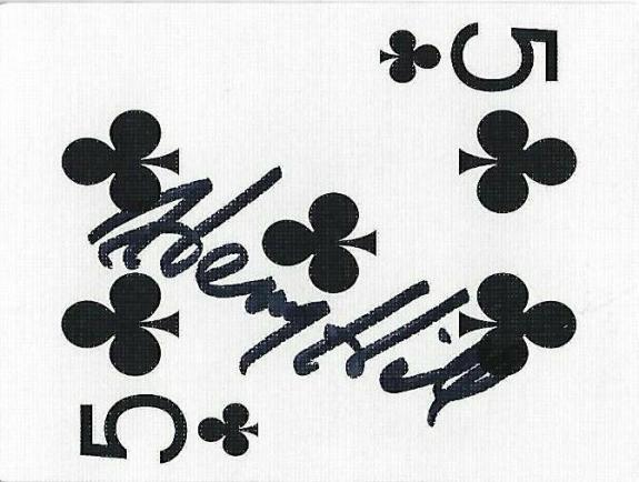 Henry Hill Signed Goodfellas Playing Card 5 Five of Clubs PSA/DNA COA Gangster