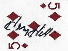 Henry Hill Signed Goodfellas Playing Card 5 Five of Diamonds PSA/DNA Gangster