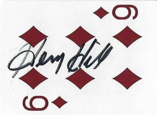 Henry Hill Signed Goodfellas Playing Card 6 Six of Diamonds PSA/DNA COA Gangster