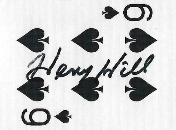 Henry Hill Signed Goodfellas Playing Card 6 Six of Spades PSA/DNA COA Gangster