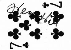 Henry Hill Signed Goodfellas Playing Card 7 Seven of Clubs PSA/DNA COA Gangster