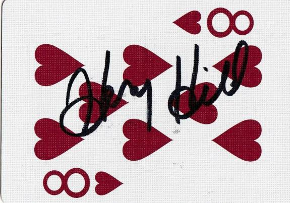 Henry Hill Signed Goodfellas Playing Card 8 Eight of Hearts PSA/DNA COA Gangster