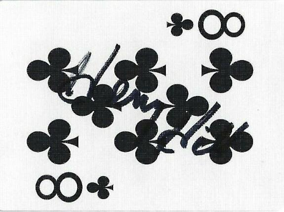 Henry Hill Signed Goodfellas Playing Card 8 Eight of Clubs PSA/DNA COA Gangster