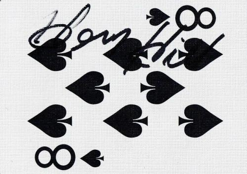 Henry Hill Signed Goodfellas Playing Card 8 Eight of Spades PSA/DNA COA Gangster