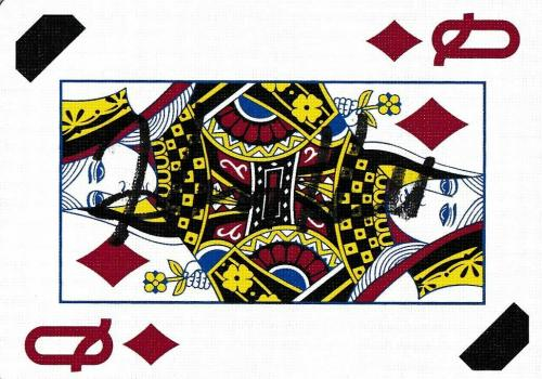 Henry Hill Signed Goodfellas Playing Card Queen of Diamonds PSA/DNA COA Gangster