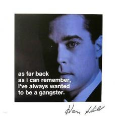 Henry Hill Signed Goodfellas Quote Authentic Autographed 16x16 Poster JSA COA