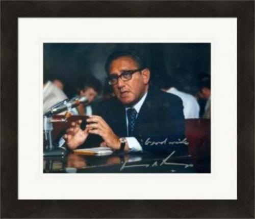 Henry Kissinger autographed 8x10 photo (United States Secretary of State)  #SC1 Matted & Framed