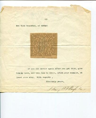 Henry B Macfarland Commissioner District of Columbia Journalist Signed Autograph