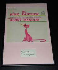 Henry Mancini Signed Framed 12x18 Pink Panther Photo Display