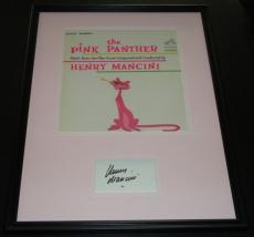 Henry Mancini Signed Framed 16x20 Photo Poster Display JSA Pink Panther