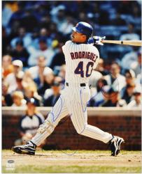 """Henry Rodriguez Chicago Cubs Autographed 16"""" x 20"""" Swinging Photograph"""