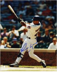 "Henry Rodriguez Chicago Cubs Autographed 8"" x 10"" Batting Photograph"