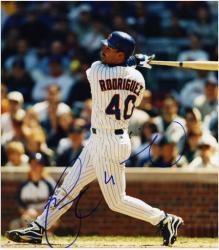 """Henry Rodriguez Chicago Cubs Autographed 8"""" x 10"""" Bat Photograph"""