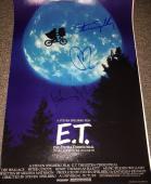 "HENRY THOMAS & DREW BARRYMORE SIGNED AUTOGRAPH VERY RARE ""E.T."" 12x18 POSTER COA"