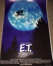 "HENRY THOMAS & DREW BARRYMORE SIGNED AUTOGRAPH VERY RARE ""E.T."" 12x18 POSTER COA"
