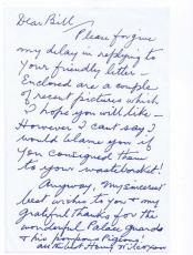 Henry Wilcoxon Signed Handwritten Letter Cleopatra Caddyshack