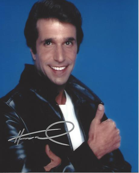 """HENRY WINKLER as ARTHUR 'FONZIE' FONZARELLI in TV Series """"HAPPY DAYS"""" Signed 8x10 Color Photo"""
