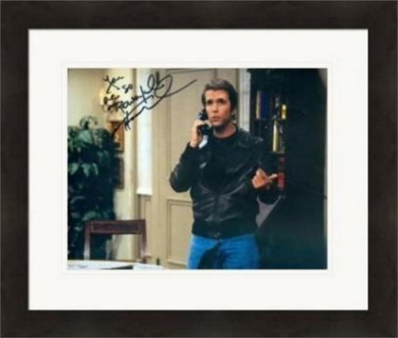 Henry Winkler autographed 8x10 Photo (Fonzie Happy Days)  #SC7 inscribed You Are So Powerful Matted & Framed
