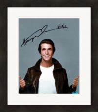 Henry Winkler autographed 8x10 photo (Happy Days The Fonze) Image #SC1 Matted & Framed