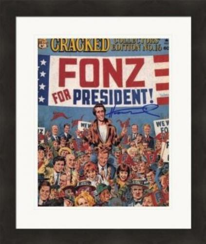 Henry Winkler autographed 8x10 Photo (The Fonze, Happy Days) #SC16 Matted & Framed