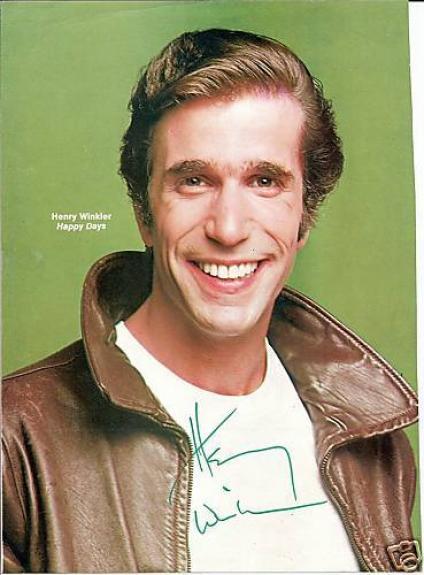 Henry Winkler autographed Photograph - Pose 38 -- JSA COA