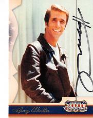 Henry Winkler autographed trading card (Happy Days The Fonze) 2007 Americana #54