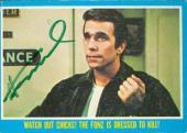 Henry Winkler autographed trading card (The Fonze) 1976 Happy Days #43