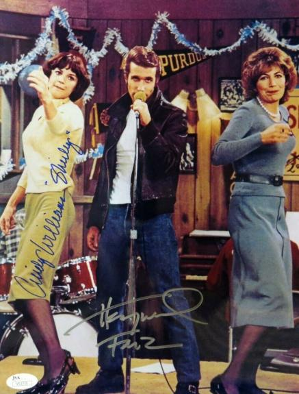 Henry Winkler Cindy Williams Dual Signed Autographed 10X13 Photo Happy Days JSA