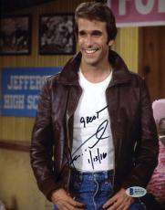 Henry Winkler Fonzie Bas Beckett Authentic Signed 8x10 Photo  Autograph