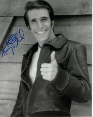 HENRY WINKLER HAND SIGNED 8x10 PHOTO+COA     FONZ     HAPPY DAYS     TO MIKE