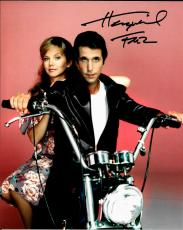 Henry Winkler Hand Signed Autographed 8x10 Photo Happy Days Fonzie on Motorcycle