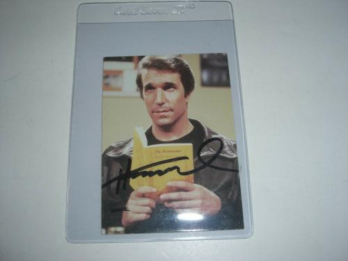 Henry Winkler Happy Days Fonzi,waterboy W/coa Signed Card