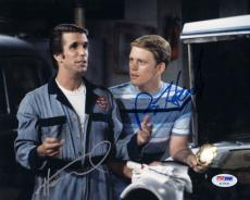HENRY WINKLER & RON HOWARD DUAL SIGNED AUTOGRAPHED 8x10 PHOTO HAPPY DAYS PSA/DNA