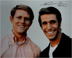 Henry Winkler & Ron Howard Signed Autographed 16x20 Photo  Big Smiles Happy Days