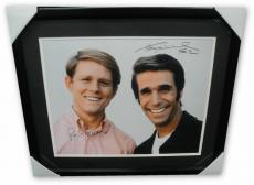 Henry Winkler & Ron Howard Signed Autographed 16x20 Photo Framed Happy Days