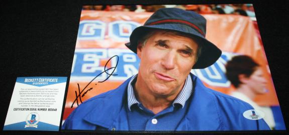 Henry Winkler signed 8 x 10, The Waterboy, Happy Days, FONZ, Beckett BAS