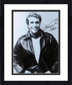 """Henry Winkler Signed Autographed 11X14 Photo Happy Days """"Fonz"""" B/W Classic w/COA"""
