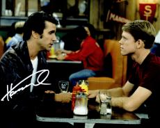Henry Winkler Signed Happy Days At Diner With Ron Howard 8x10 Photo