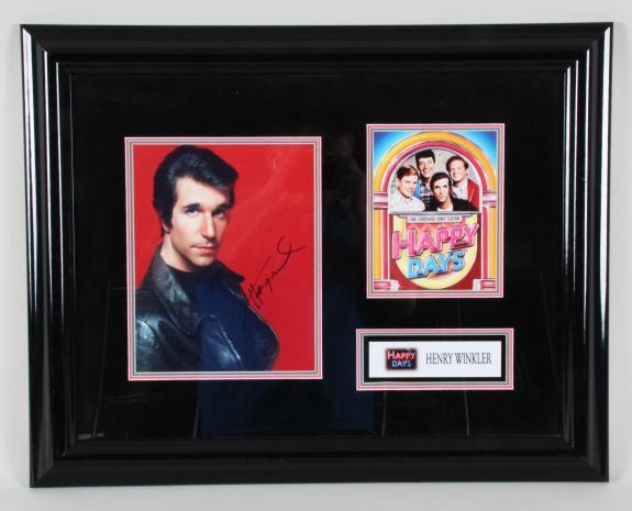"Henry Winkler Signed Photo ""Happy Days"" Display – COA JSA"
