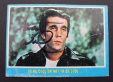 HENRY WINKLER The Fonz Happy Days 1976 Autograph Card #36 Signed 16D
