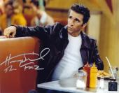 """Henry Winkler """"The Fonz"""" Happy Days Signed 8x10 Photo Sitting In Arnold's Diner"""
