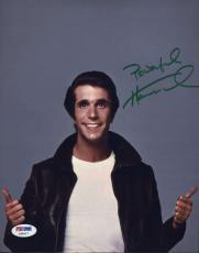 Henry Winkler The Fonz Signed Psa/dna Cert 8x10 Photo Authenticated Autograph