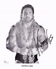Hercules Hernandez Wwf Nwa Wcw Signed Autograph 8x10 Photo Jsa Coa
