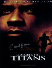 Herman Boone Signed T.c Williams Highschool Remember The Titans 8x10 Photo 10592