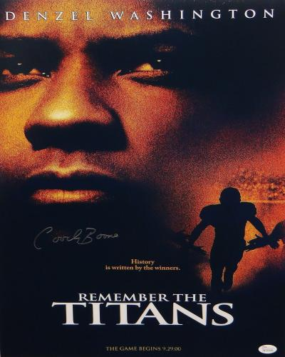 Herman Coach Boone Autographed 16x20 Remember The Titans Movie Poster- JSA W Aut
