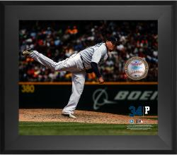 "Felix Hernandez Seattle Mariners Framed 20"" x 24"" Gamebreaker Photograph with Game-Used Ball"