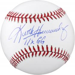 Keith Hernandez New York Mets Autographed Baseball with 11 X Gold Glove Inscription - Mounted Memories