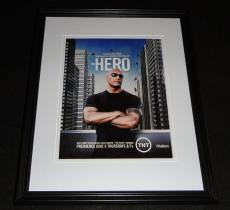 Hero 2013 The Rock Dwayne Johnson Framed 11x14 ORIGINAL Advertisement TNT